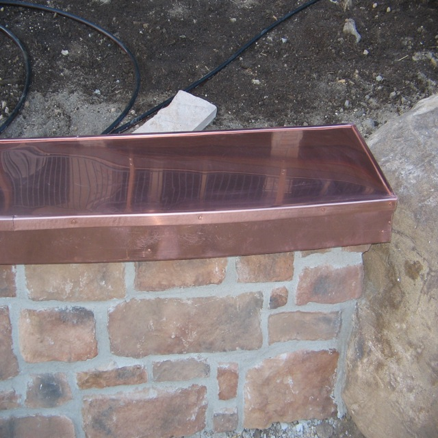Copper Covered Bench