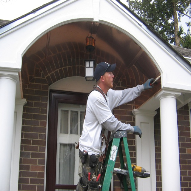 Curved Copper Soffit